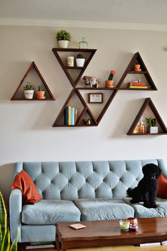 Living Room Wall Shelves Decorating Ideas from www.molitsy.com