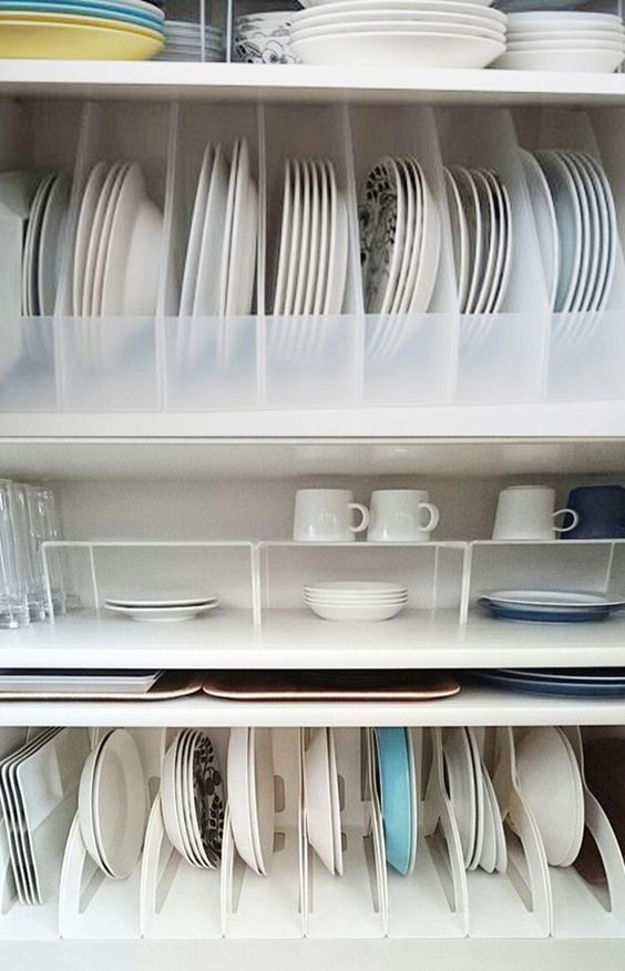 kitchen storage ideas, tableware storage ideas, storage solution for kitchen