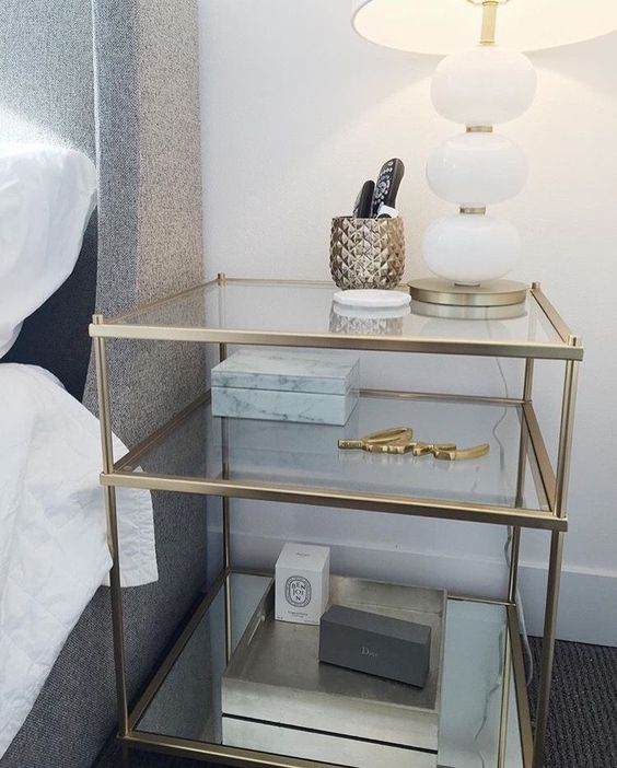 35 bedside table to decorate your home life Practical and beautiful bedside table