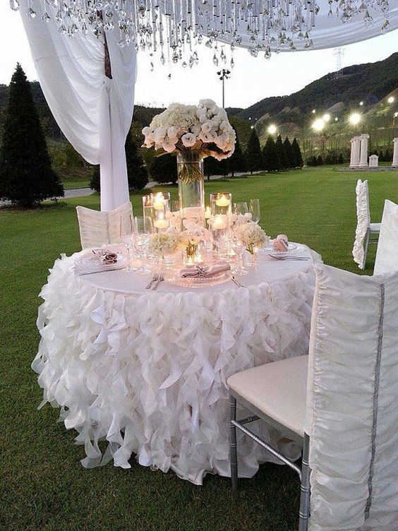 38  Gorgeous Tablecloth Ideas Make Your Wedding Better wedding, wedding decoration, wedding tablecloth