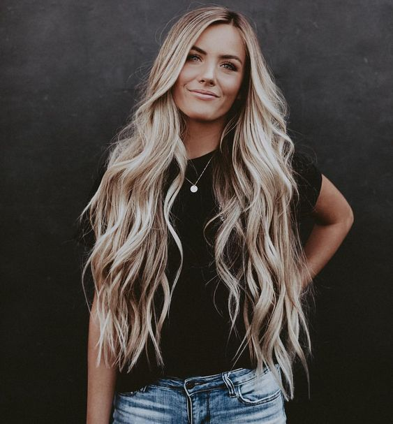 41 Warm Wave Long Hair Makes You Elegant And Gentlr hair style,long hair style, hair braid,wave hair