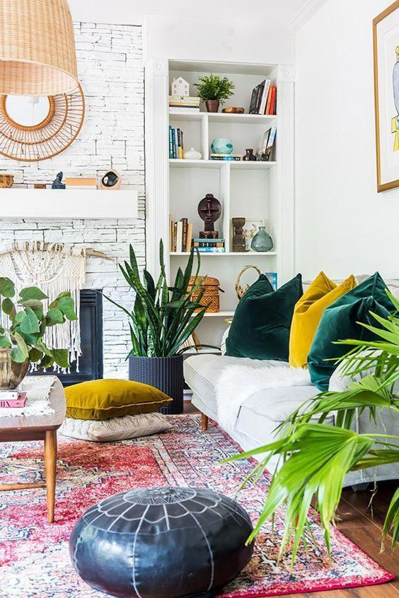 36 Colorful and Bright Home Decor  Choice For Your Home home design, , interior design, living room, colorful decor, bright