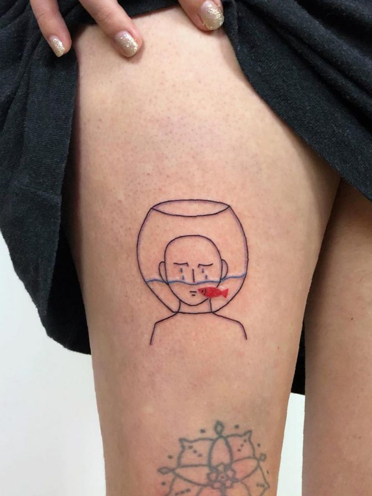 38 Mind-Blowing Thigh Tattoos Designs For Women 2020